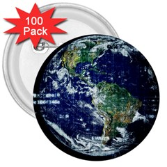 Earth Internet Globalisation 3  Buttons (100 Pack)  by Celenk