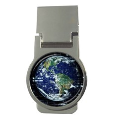 Earth Internet Globalisation Money Clips (round)  by Celenk