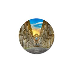 Abbey Ruin Architecture Medieval Golf Ball Marker by Celenk