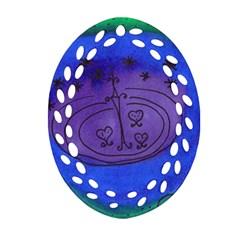 Starry Egg Ornament (oval Filigree) by snowwhitegirl