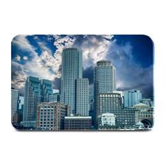 Tower Blocks Skyscraper City Modern Plate Mats by Celenk