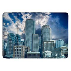 Tower Blocks Skyscraper City Modern Samsung Galaxy Tab 8 9  P7300 Flip Case by Celenk
