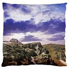 Mountain Snow Landscape Winter Standard Flano Cushion Case (two Sides) by Celenk