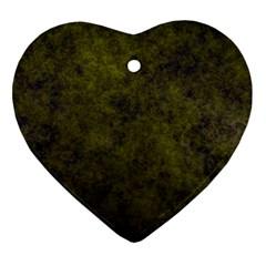Green Background Texture Grunge Ornament (heart) by Celenk