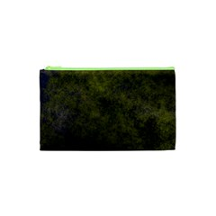 Green Background Texture Grunge Cosmetic Bag (xs) by Celenk