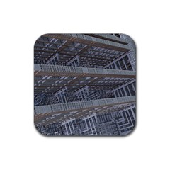 Ducting Construction Industrial Rubber Square Coaster (4 Pack)  by Celenk