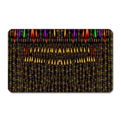 Hot As Candles And Fireworks In Warm Flames Magnet (rectangular) by pepitasart