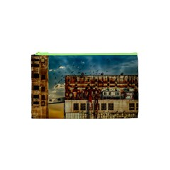 Ruin Abandoned Building Urban Cosmetic Bag (xs) by Celenk