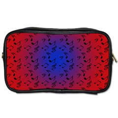 Red Music Blue Moon Toiletries Bags 2 Side by snowwhitegirl