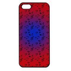 Red Music Blue Moon Apple Iphone 5 Seamless Case (black) by snowwhitegirl