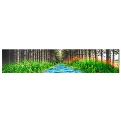 River Forest Landscape Nature Small Flano Scarf by Celenk