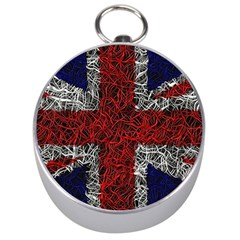 Union Jack Flag Uk Patriotic Silver Compasses by Celenk