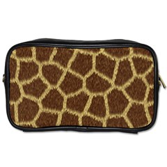 Background Texture Giraffe Toiletries Bags 2 Side by Celenk