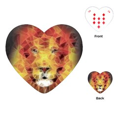 Fractal Lion Playing Cards (heart)  by Celenk