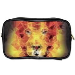 Fractal Lion Toiletries Bags 2 Side by Celenk