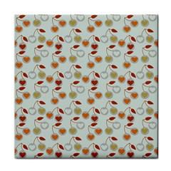 Heart Cherries Grey Face Towel by snowwhitegirl