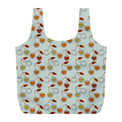 Heart Cherries Grey Full Print Recycle Bags (l)  by snowwhitegirl