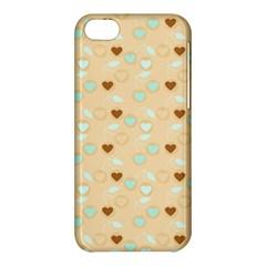 Beige Heart Cherries Apple Iphone 5c Hardshell Case by snowwhitegirl