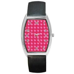 Punk Heart Pink Barrel Style Metal Watch by snowwhitegirl