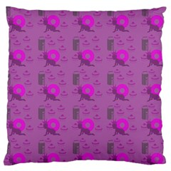 Punk Baby Violet Large Cushion Case (two Sides) by snowwhitegirl