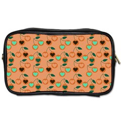 Peach Cherries Toiletries Bags 2 Side by snowwhitegirl