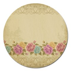 Shabby Country Magnet 5  (round) by 8fugoso