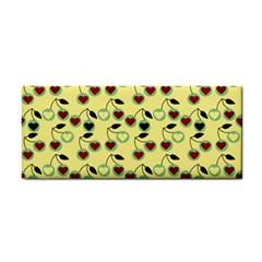 Yellow Heart Cherries Cosmetic Storage Cases by snowwhitegirl