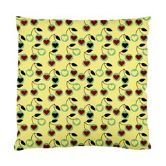 Yellow Heart Cherries Standard Cushion Case (two Sides) by snowwhitegirl
