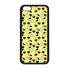 Yellow Heart Cherries Apple Iphone 5c Seamless Case (black) by snowwhitegirl