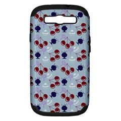 Sky Cherry Samsung Galaxy S Iii Hardshell Case (pc+silicone) by snowwhitegirl