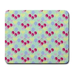 Birthday Cherries Large Mousepads by snowwhitegirl