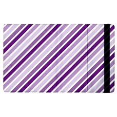 Violet Stripes Apple Ipad Pro 12 9   Flip Case