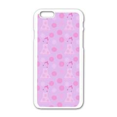 Lilac Dress Apple Iphone 6/6s White Enamel Case by snowwhitegirl