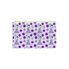 Lilac Dress On White Cosmetic Bag (xs) by snowwhitegirl