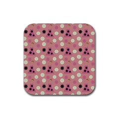 Mauve Dress Rubber Square Coaster (4 Pack)  by snowwhitegirl