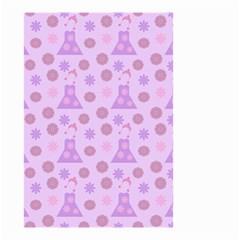 Violet Pink Flower Dress Small Garden Flag (two Sides) by snowwhitegirl