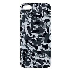 Grey Camo Apple Iphone 5 Premium Hardshell Case by snowwhitegirl