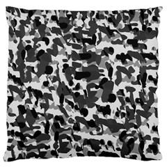 Grey Camo Standard Flano Cushion Case (one Side) by snowwhitegirl