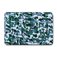 Blue Camo Small Doormat  by snowwhitegirl