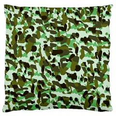 Brownish Green Camo Standard Flano Cushion Case (one Side) by snowwhitegirl
