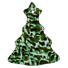 Green Camo Christmas Tree Ornament (two Sides) by snowwhitegirl