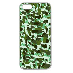 Green Camo Apple Seamless Iphone 5 Case (clear) by snowwhitegirl
