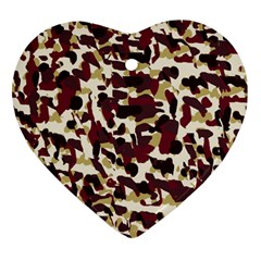 Red Camo Heart Ornament (two Sides) by snowwhitegirl