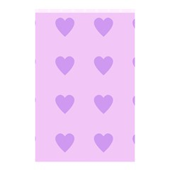 Violet Heart Shower Curtain 48  X 72  (small)  by snowwhitegirl