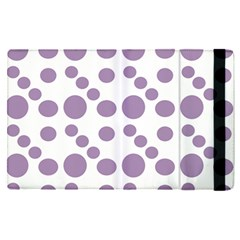 Violet Dots Apple Ipad Pro 9 7   Flip Case by snowwhitegirl