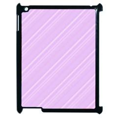 Lilac Diagonal Lines Apple Ipad 2 Case (black) by snowwhitegirl