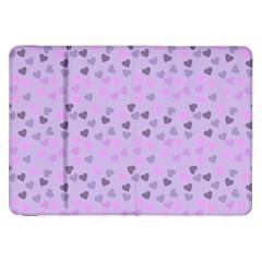 Heart Drops Violet Samsung Galaxy Tab 8 9  P7300 Flip Case by snowwhitegirl
