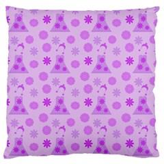 Purple Dress Large Cushion Case (one Side) by snowwhitegirl