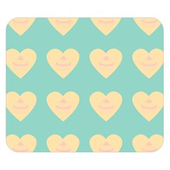 Teal Cupcakes Double Sided Flano Blanket (small)  by snowwhitegirl