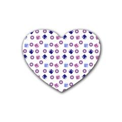 Milk And Donuts Rubber Coaster (heart)  by snowwhitegirl